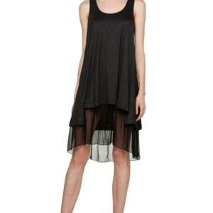 THAKOON GRAY BLACK LAYERED TANK DRESS SIZE M